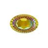 Resin Sew-on Piikki Stones 10pcs 18x25mm Oval Sun Aurora Borealis